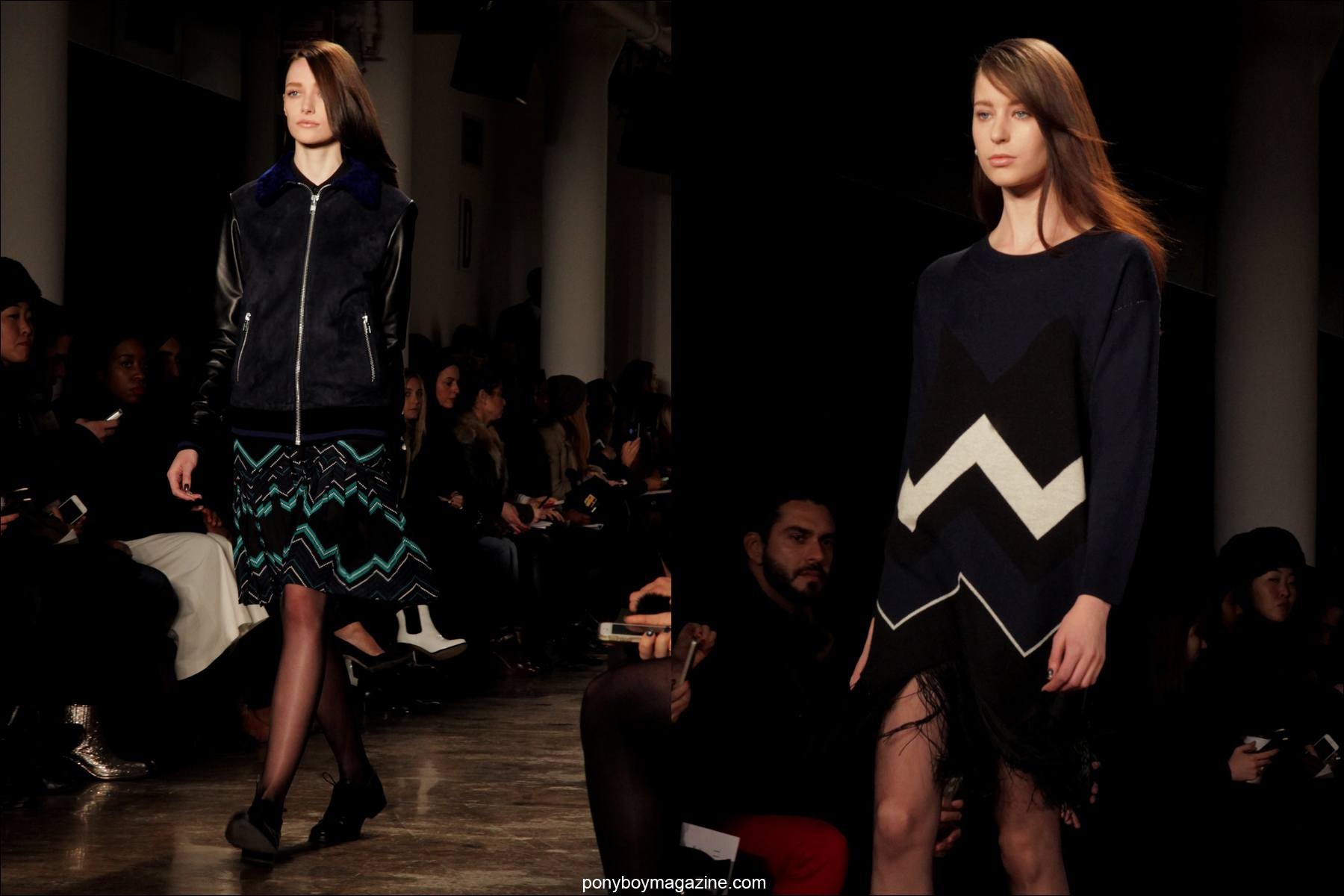 Young models on the runway for Timo Weiland Autumn/Winter 2014 Collection. Photographed at New York City's Milk Studios by Alexander Thompson.