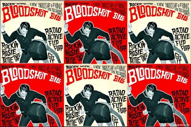 Posters of Norton Records artist Bloodshot Bill, for Ponyboy Magazine in New York City.