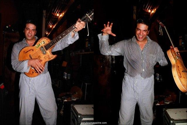 Bloodshot Bill, rockabilly singer, photographed backstage by Alexander Thompson for Ponyboy Magazine.