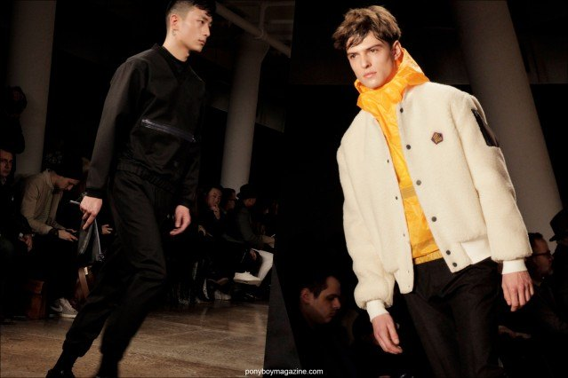 Male models on the runway for Patrik Ervell A/W 2014 Collection. Photographed by Alexander Thompson in New York City for Ponyboy Magazine.
