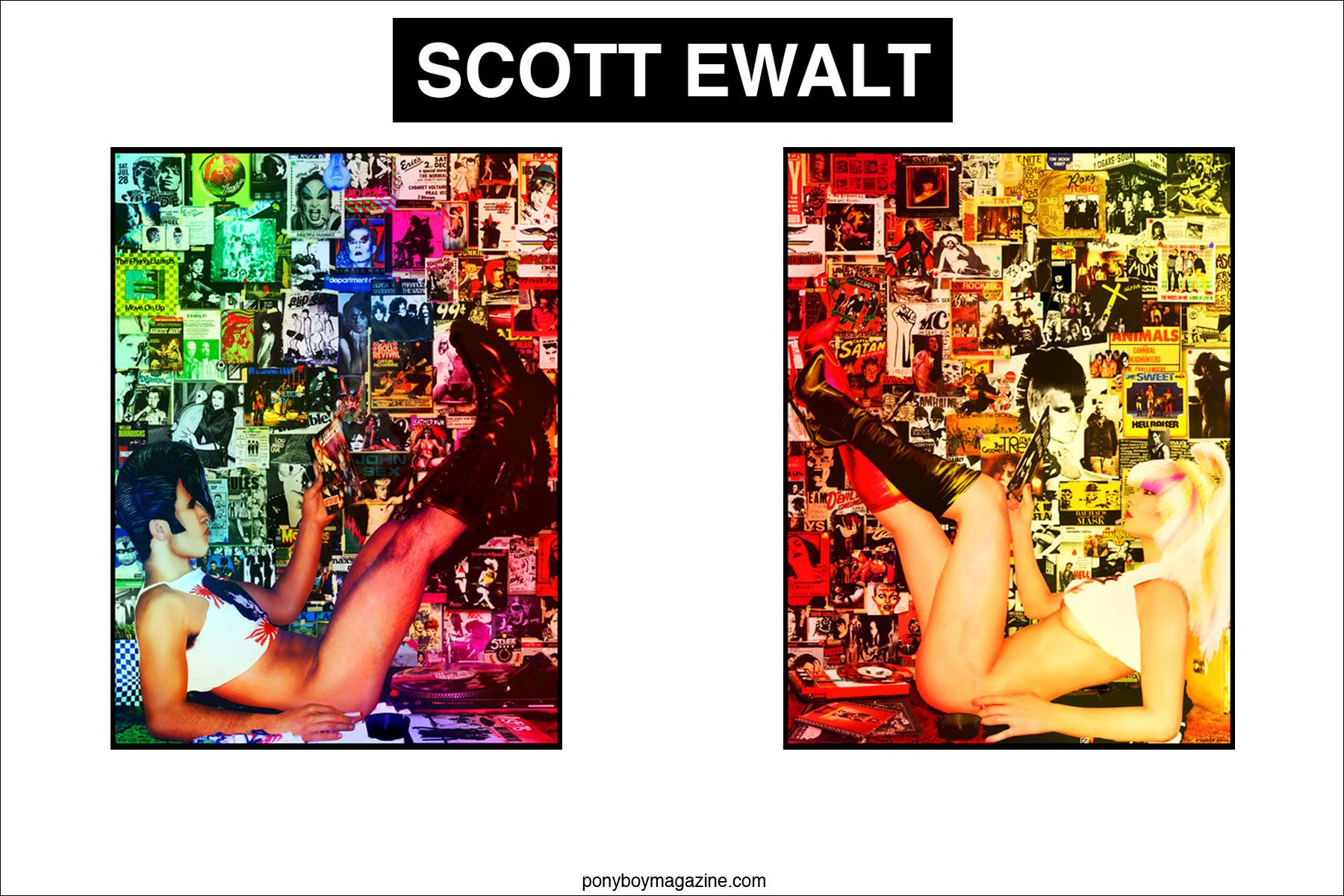 Opening spread for Scott Ewalt, Ponyboy Magazine.