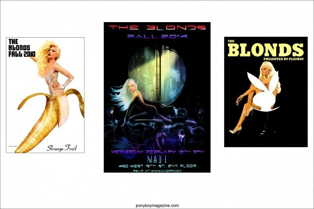 Assorted images for The Blonds, by New York City artist Scott Ewalt. Ponyboy Magazine.