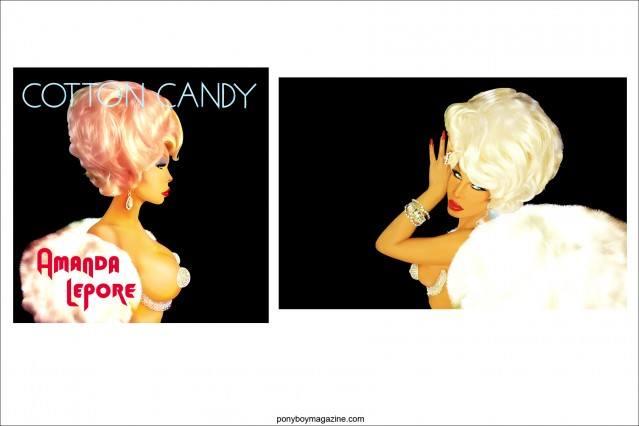 Images of New York City legend Amanda Lepore, by artist Scott Ewalt. Ponyboy Magazine.