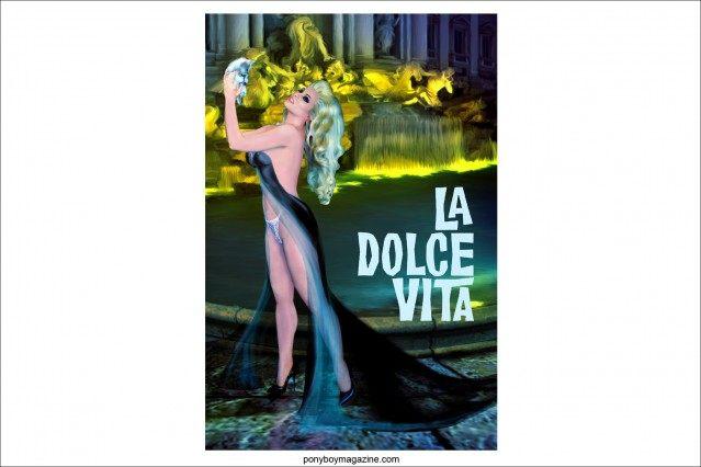 """""""La Dolce Vita"""" artwork by Scott Ewalt. Ponyboy Magazine."""