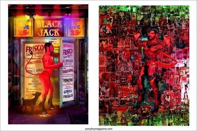 "From the exhibit titled ""Back in the Night"", by New York City digital artist Scott Ewalt. Ponyboy Magazine in New York City."