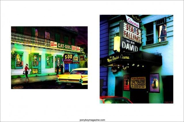 "Images from artist Scott Ewalt exhibit ""Back in the Night"". Ponyboy Magazine."