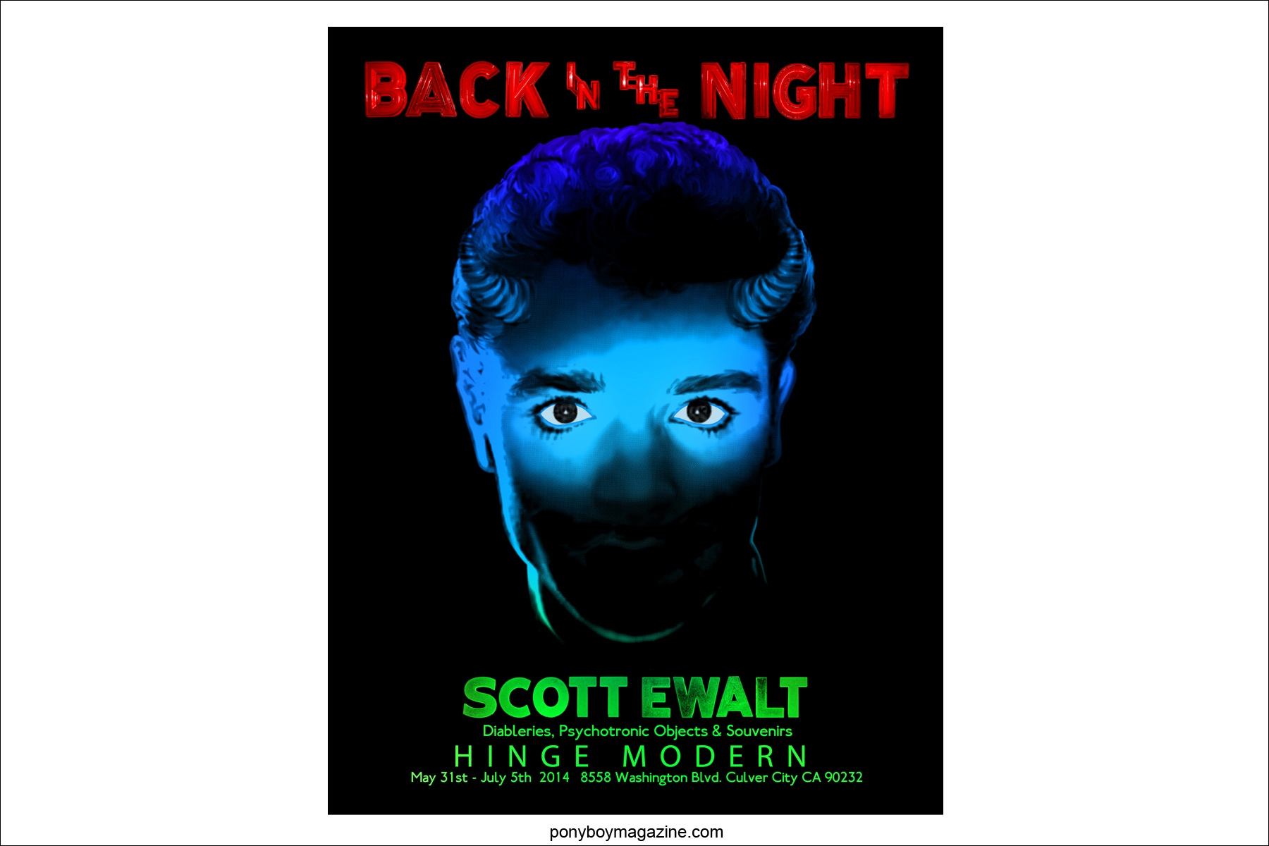 Poster for Scott Ewalt exhibit