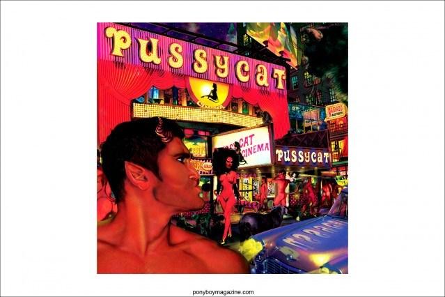 """Scott Ewalt artwork for exhibit """"Back in the Night"""", Ponyboy Magazine."""