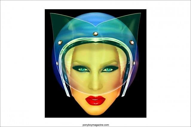 Image of Phillipe Blond from the Blonds by New York City artist Scott Ewalt. Ponyboy Magazine.
