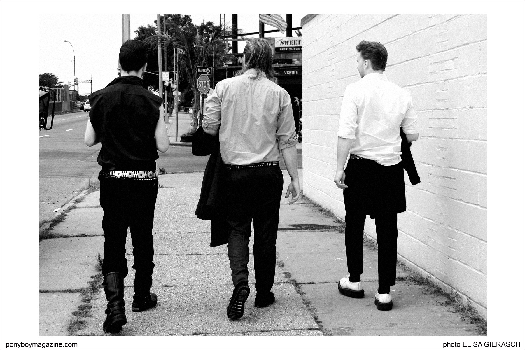 Photo of teddy boy band Furious by Elisa Gierasch. Ponyboy Magazine.