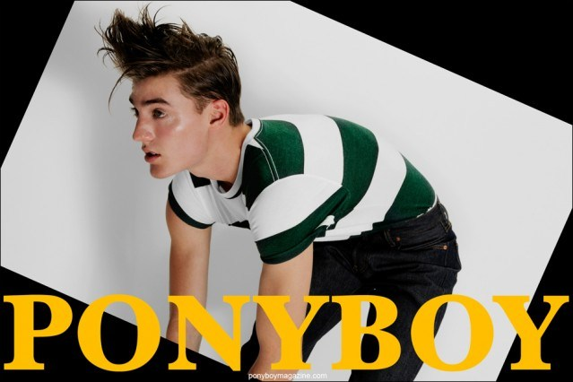 Ponyboy Magazine with Fusion model Stirling Caiulo, photographed by Alexander Thompson.