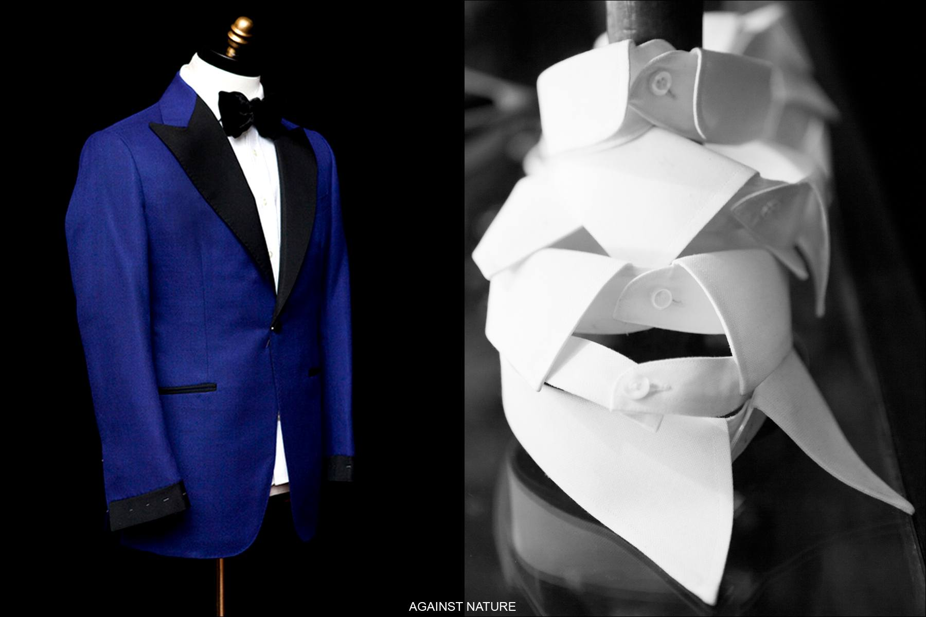Detail shots of Against Nature bespoke tailoring, Ponyboy Magazine.