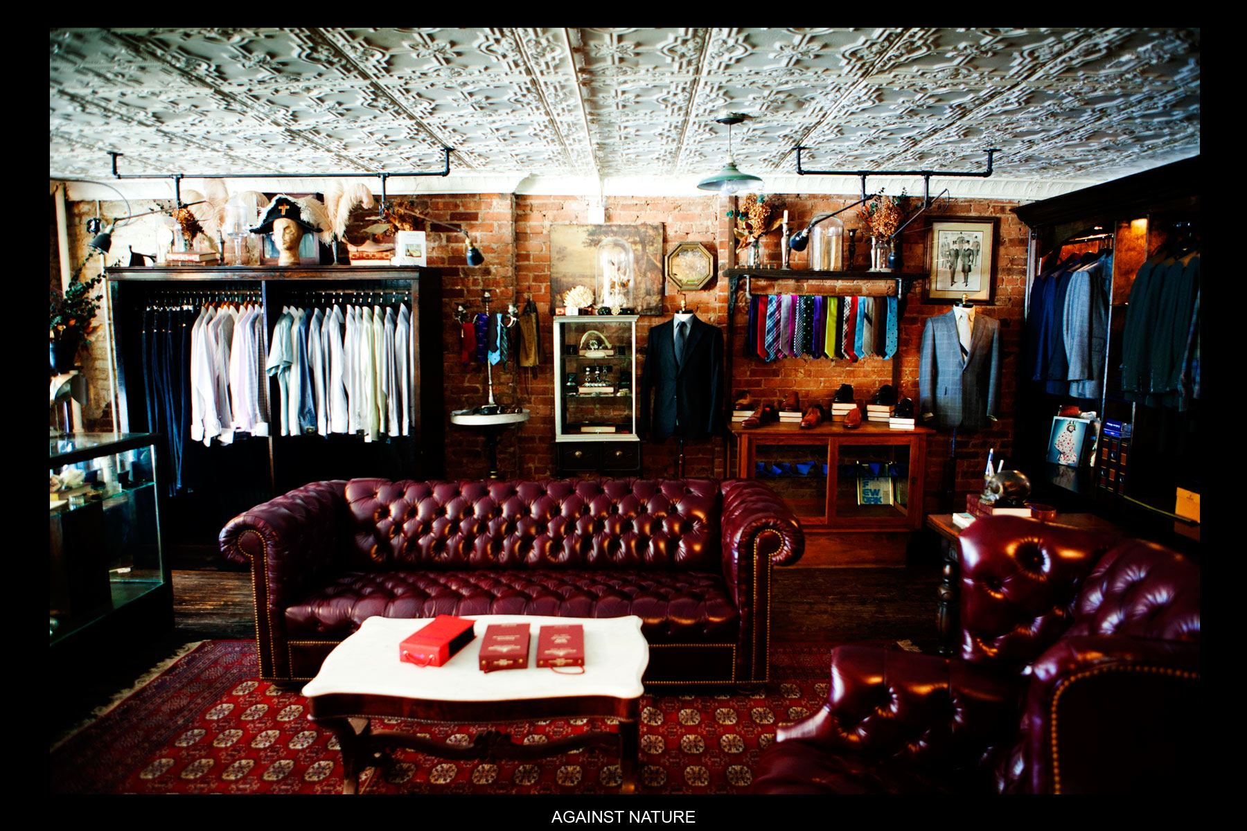 An interior shot of the Against Nature Atelier in downtown Manhattan, Ponyboy Magazine.