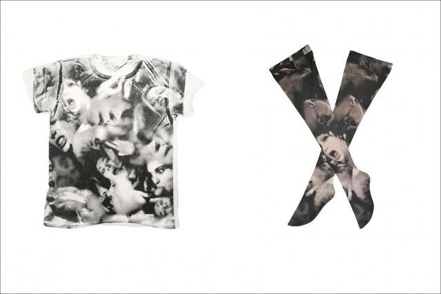 T-shirt and leggings by designer Katy Rodriguez for AMBUSH: SEX & FASHION collection, Ponyboy Magazine.