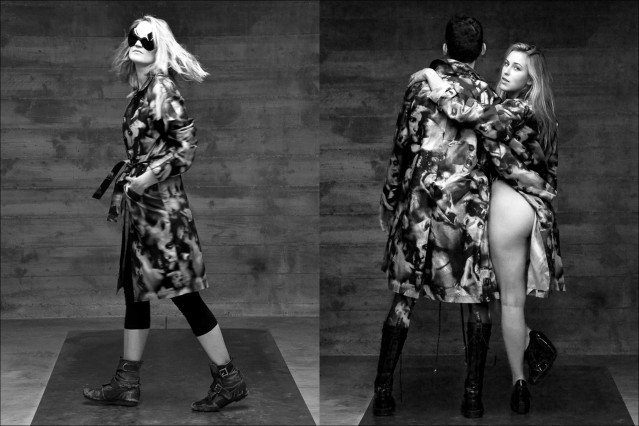 """Models wear Katy Rodgriguez re-issue """"Porno"""" print collection, Ponyboy Magazine."""
