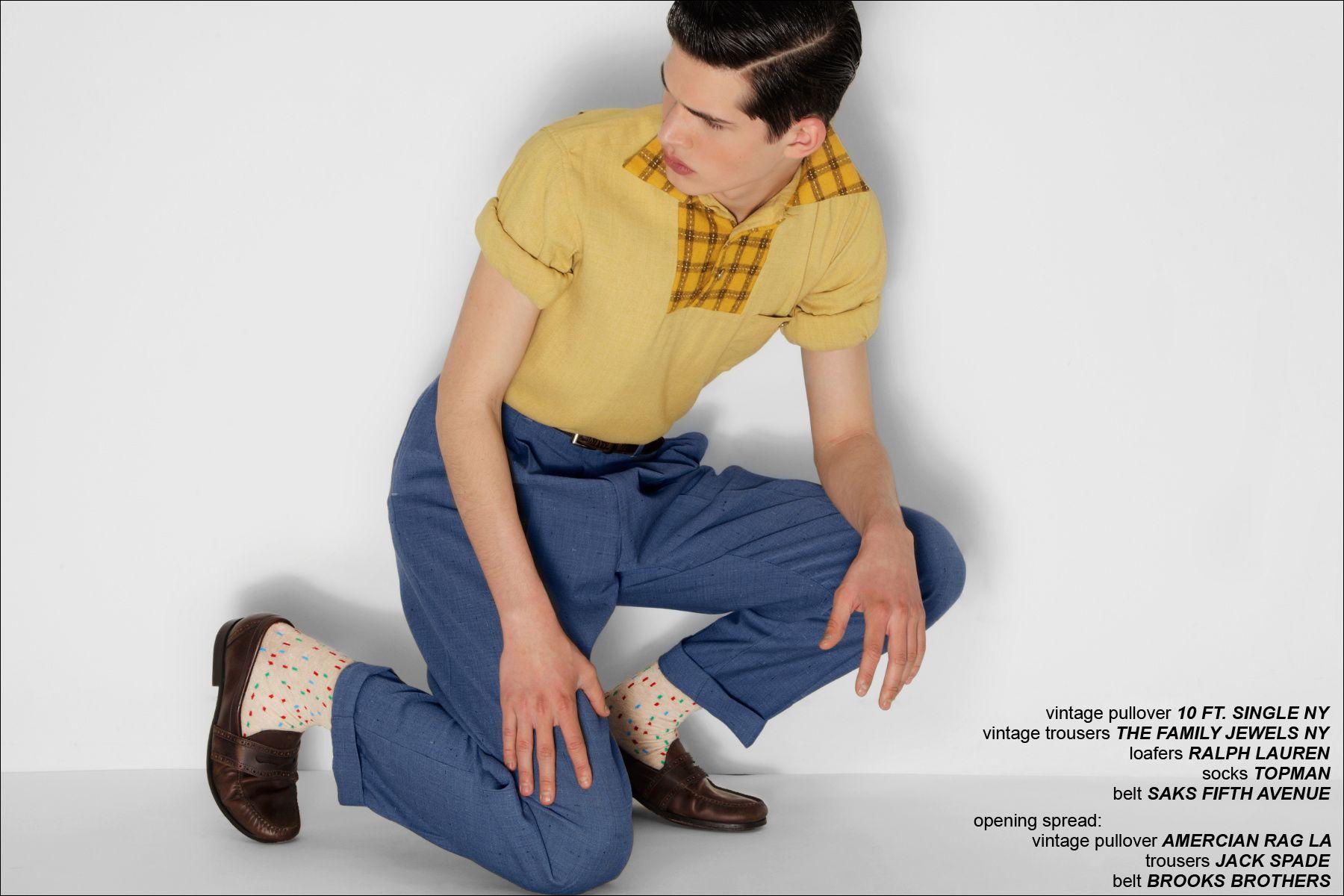 Ben Stift models for Ponyboy Magazine men's editorial