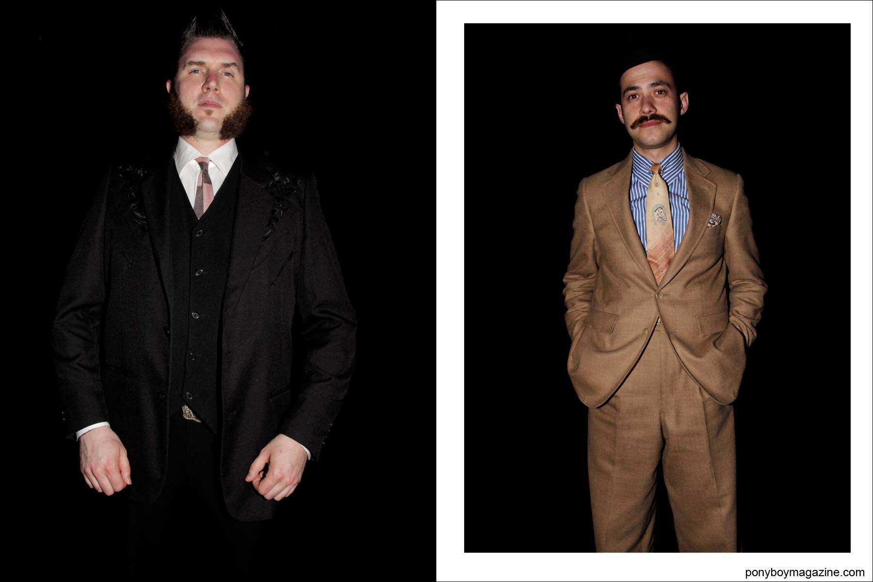 Stylish men's vintage suits photographed by Ponyboy Magazine photographer Alexander Thompson at the Viva Las Vegas weekender.