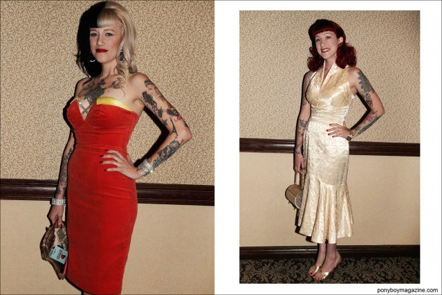 1950's women's evening fashions, photographed at Tom Ingram's Viva Las Vegas rockabilly weekender by Alexander Thompson for Ponyboy Magazine.