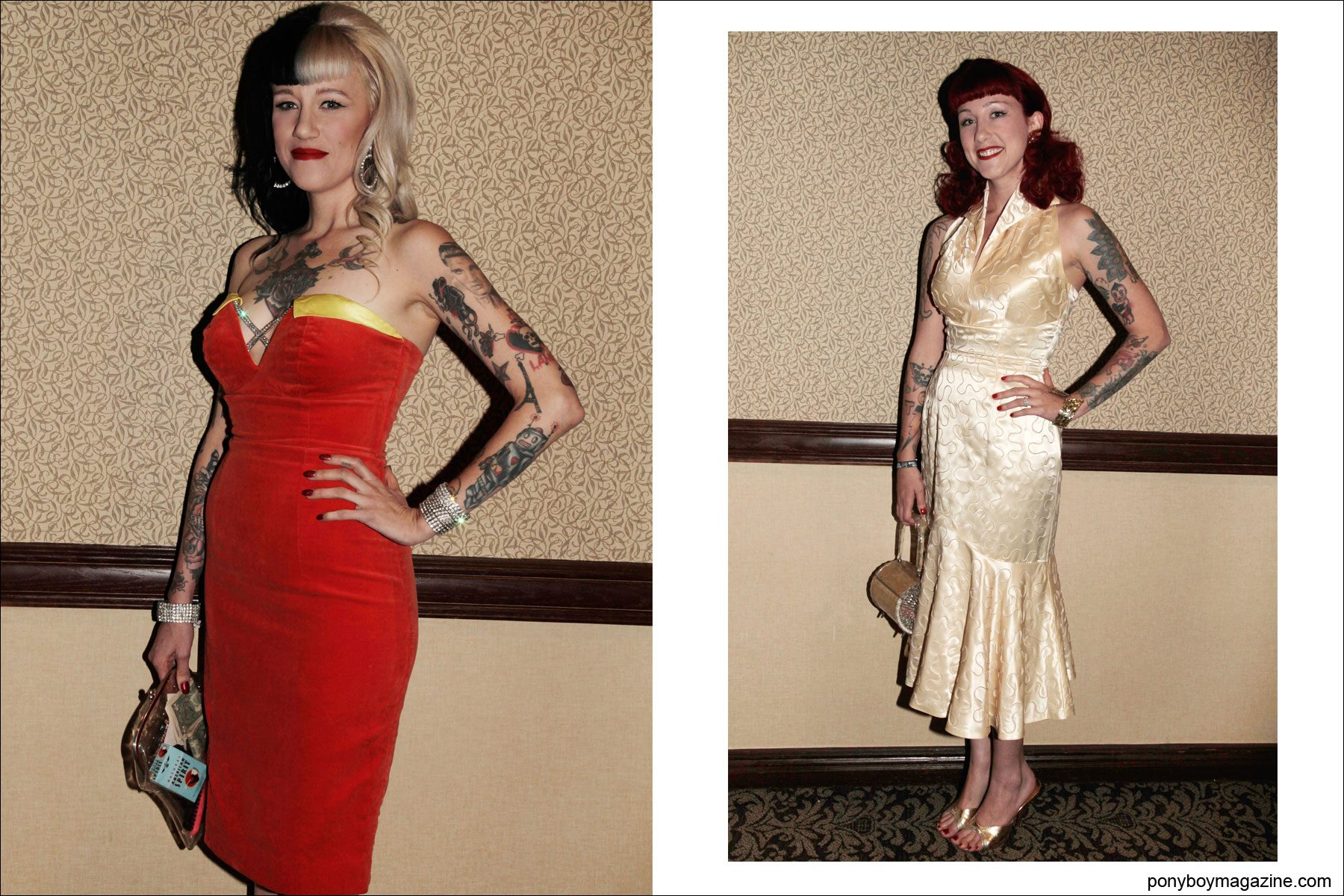 1950's women's cocktail dresses photographed at rockabilly weekender Viva Las Vegas 17 by Alexander Thompson for Ponyboy Magazine.