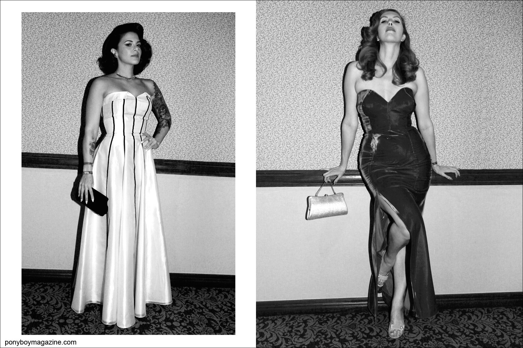 Elegant 1950's gowns photographed by Alexander Thompson at Viva Las Vegas rockabilly weekender for Ponyboy Magazine.