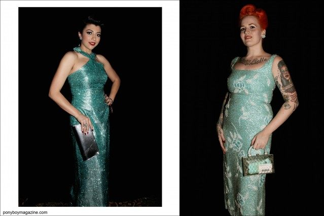 Elegant 1950's vintage women's dresses photographed at the annual Viva Las Vegas rockabilly weekender by Alexander Thompson for Ponyboy Magazine.