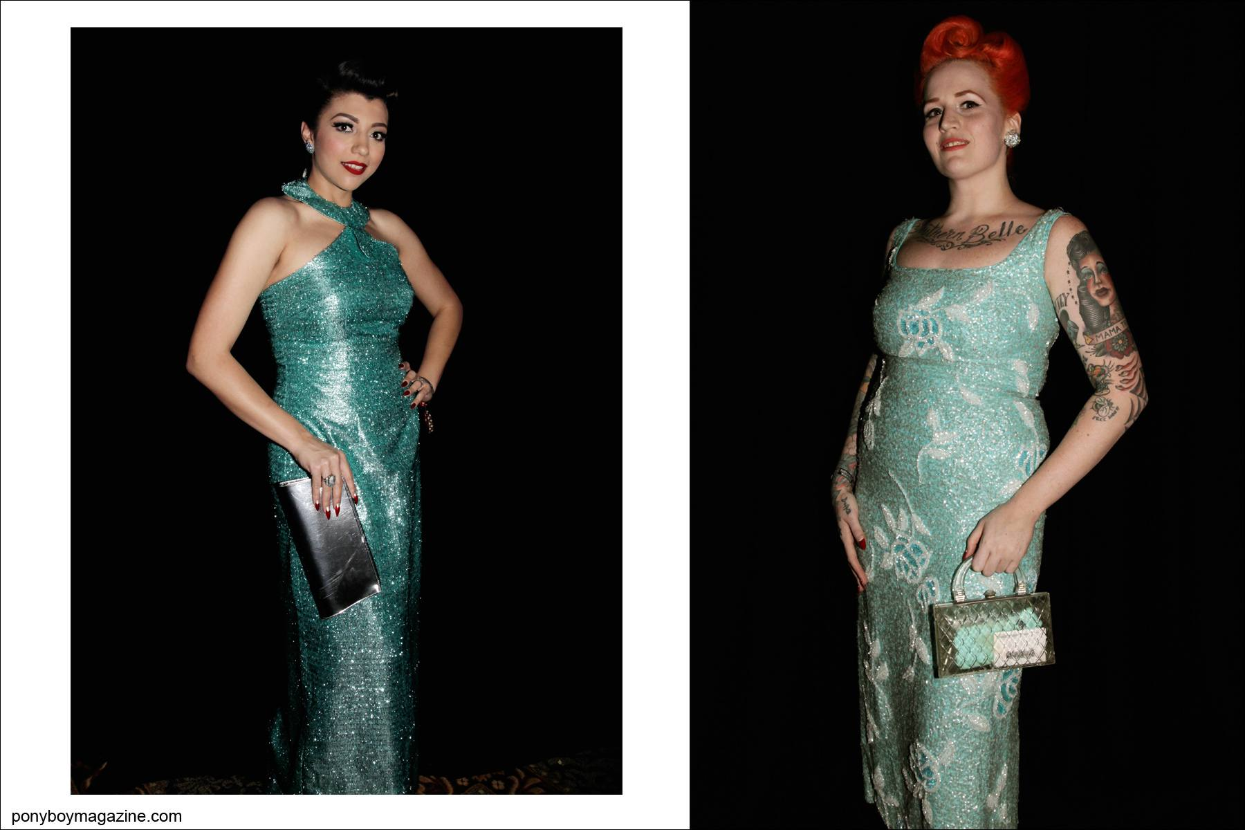 Classic 1950's women's evening wear photographed by Alexander Thompson at rockabilly weekender Viva Las Vegas for Ponyboy Magazine.