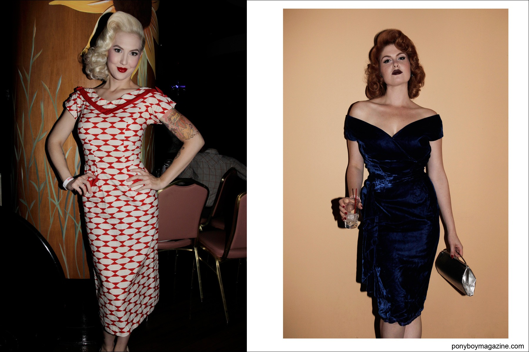 1950 S Vintage Fashions On Pin Up Models Miss Rockabilly Ruby And Doris Mayday Photographed