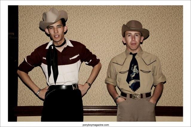 Vintage 50's western gabardines on two gentleman at Tom Ingram's Viva Las Vegas rockabilly weekender, photographed for Ponyboy Magazine by Alexander Thompson.
