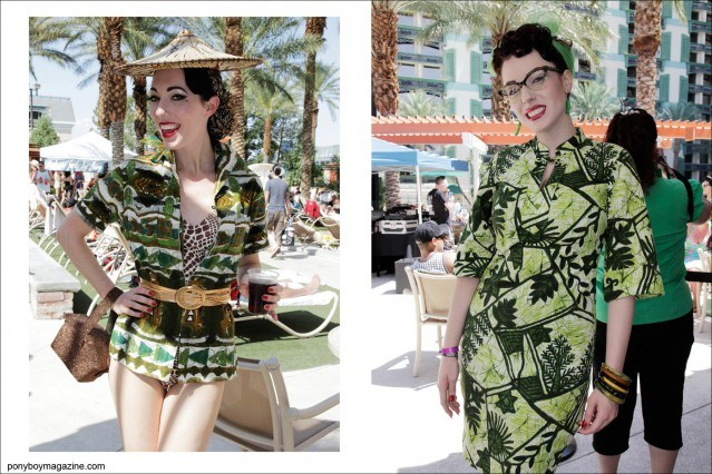 1950's style women's pool fashions photographed at the annual Viva Las Vegas rockabilly weekender by Alexander Thompson for Ponyboy Magazine.