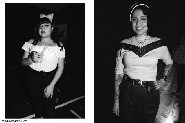 B&W images of women's rockabilly style, photographed at the annual Viva Las Vegas weekender by Alexander Thompson for Ponyboy Magazine.