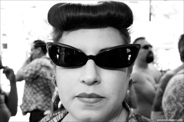 1950's vintage style cat eye sunglasses photographed at the annual Viva Las Vegas pool party by Alexander Thompson for Ponyboy Magazine.