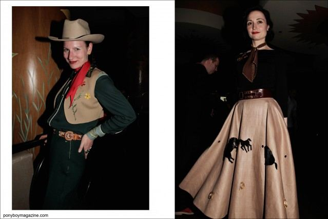 Western women's rockabilly style, as photographed by Alexander Thompson for Ponyboy Magazine at the Viva Las Vegas weekender.