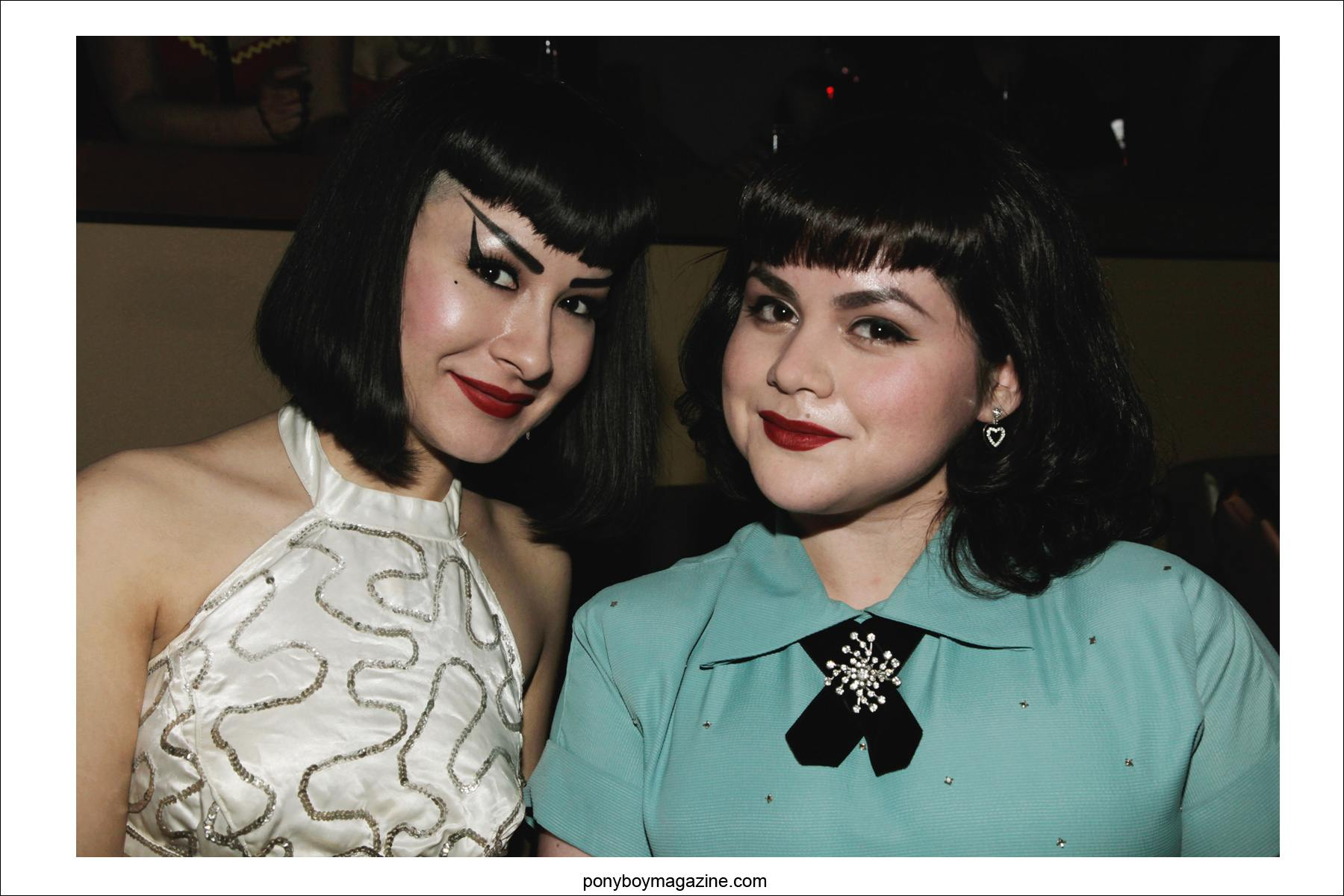 Rockabilly girls photographed in 50's vintage fashions by Alexander Thompson for Ponyboy Magazine at Tom Ingram's Viva Las Vegas 17.