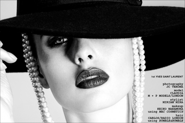 The beautiful Claudia photographed by JC Verona for a Helmut Newton inspired editorial for Ponyboy Magazine.