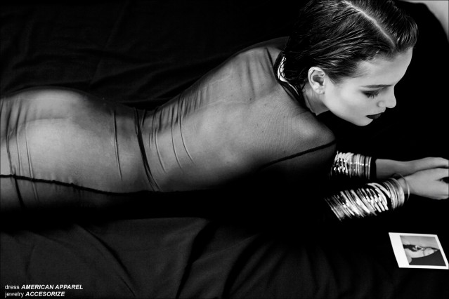 Claudia photographed by JC Verona for a Helmut Newton inspired editorial for Ponyboy Magazine.