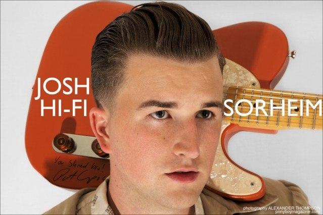 Josh Hi-Fi Sorheim, rockabilly musician with the Wild Records Label in Hollywood, California. Portrait by Alexander Thompson for Ponyboy Magazine.