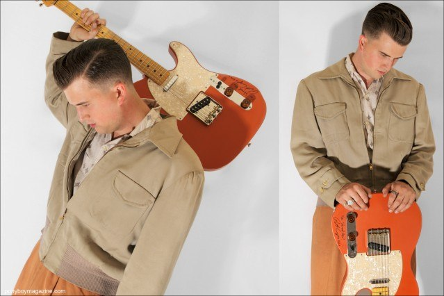 Josh Sorheim, Wild Records rockabilly recording artist, photographed for Ponyboy Magazine by Alexander Thompson.