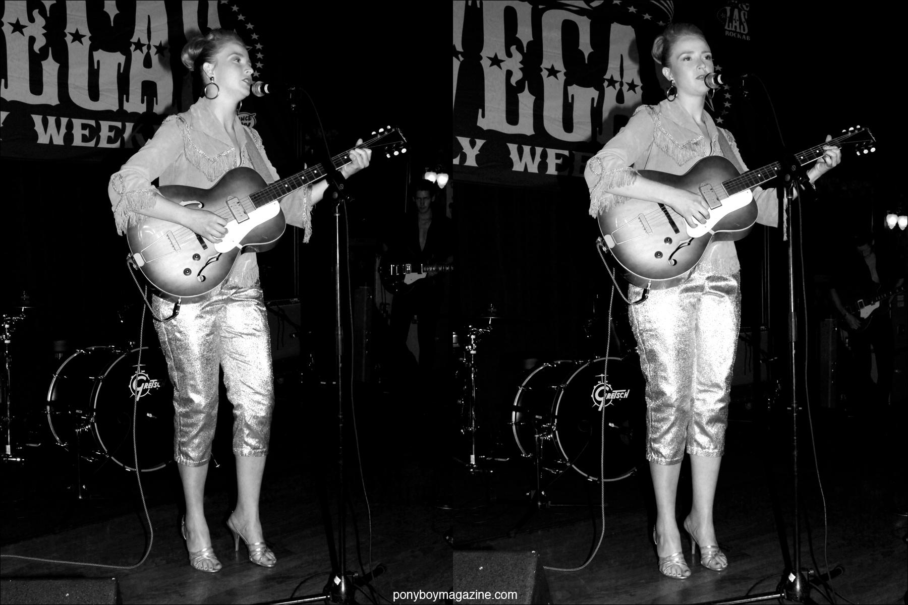Wild Records musical act Mary Simich photographed at Tom Ingram's Viva Las Vegas 17 rockabilly weekender. Photo by Alexander Thompson for Ponyboy Magazine.