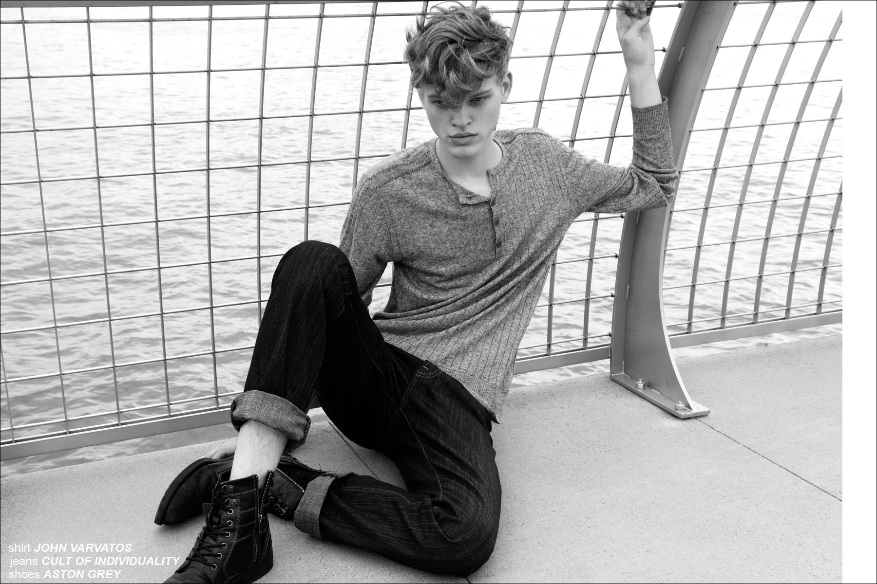 Fusion male model Reid Rohling for Ponyboy Magazine men's editorial