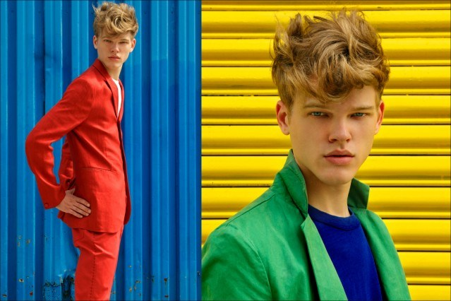 """Fusion model Reid Rohling stars in Ponyboy Magazine men's editorial """"On The Waterfront"""". Photographed by Alexander Thompson, with styling by Jules Wood."""