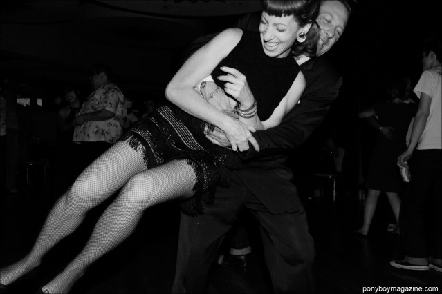 A rockabilly couple on the dance floor at Tom Ingram's annual Viva Las Vegas weekender. Photographed for Ponyboy Magazine by New York City photographer Alexander Thompson.