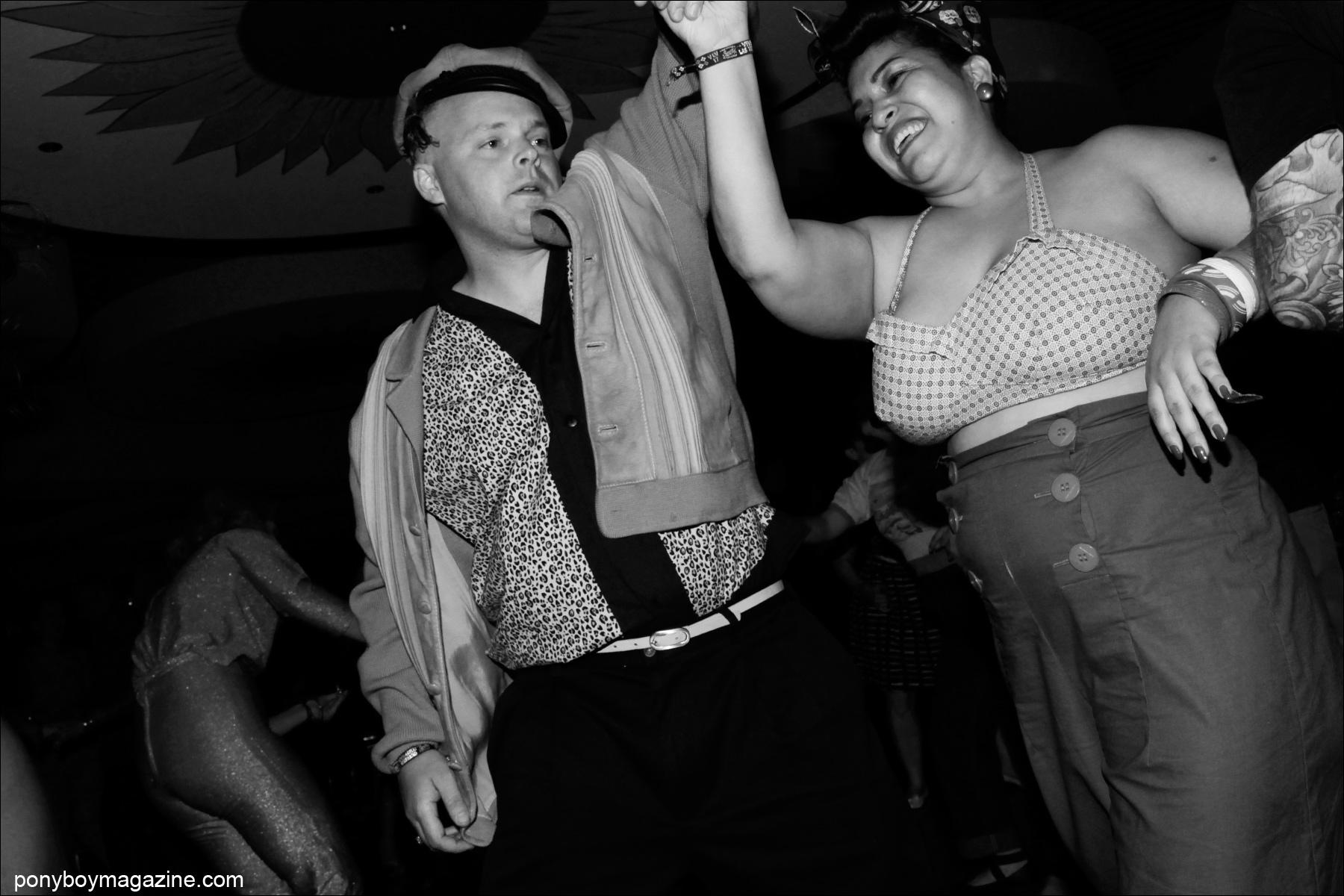 Rockabilly couple on the Viva Las Vegas dance floor, photographed by Alexander Thompson for Ponyboy Magazine.