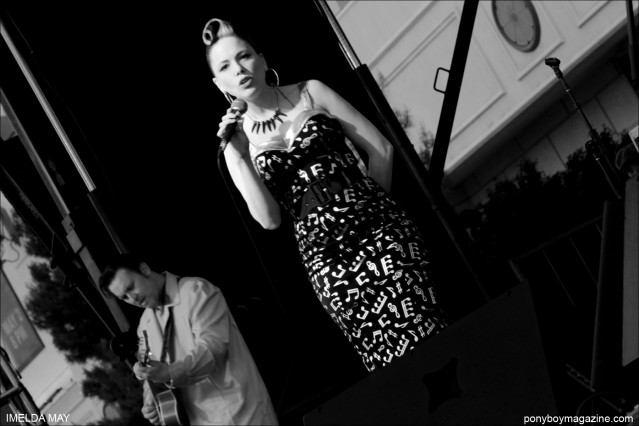 Imelda May performs at Tom Ingram's Viva Las Vegas rockabilly car show. Photographed by Alexander Thompson for Ponyboy Magazine.