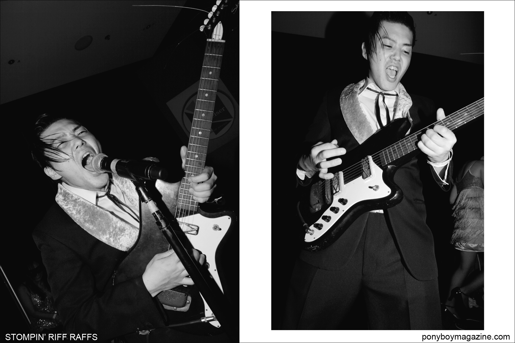 Japanese export Stompin' Riff Raffs, photographed at Tom Ingram's annual rockabilly weekender Viva Las Vegas. Photographs by Alexander Thompson for Ponyboy Magazine.