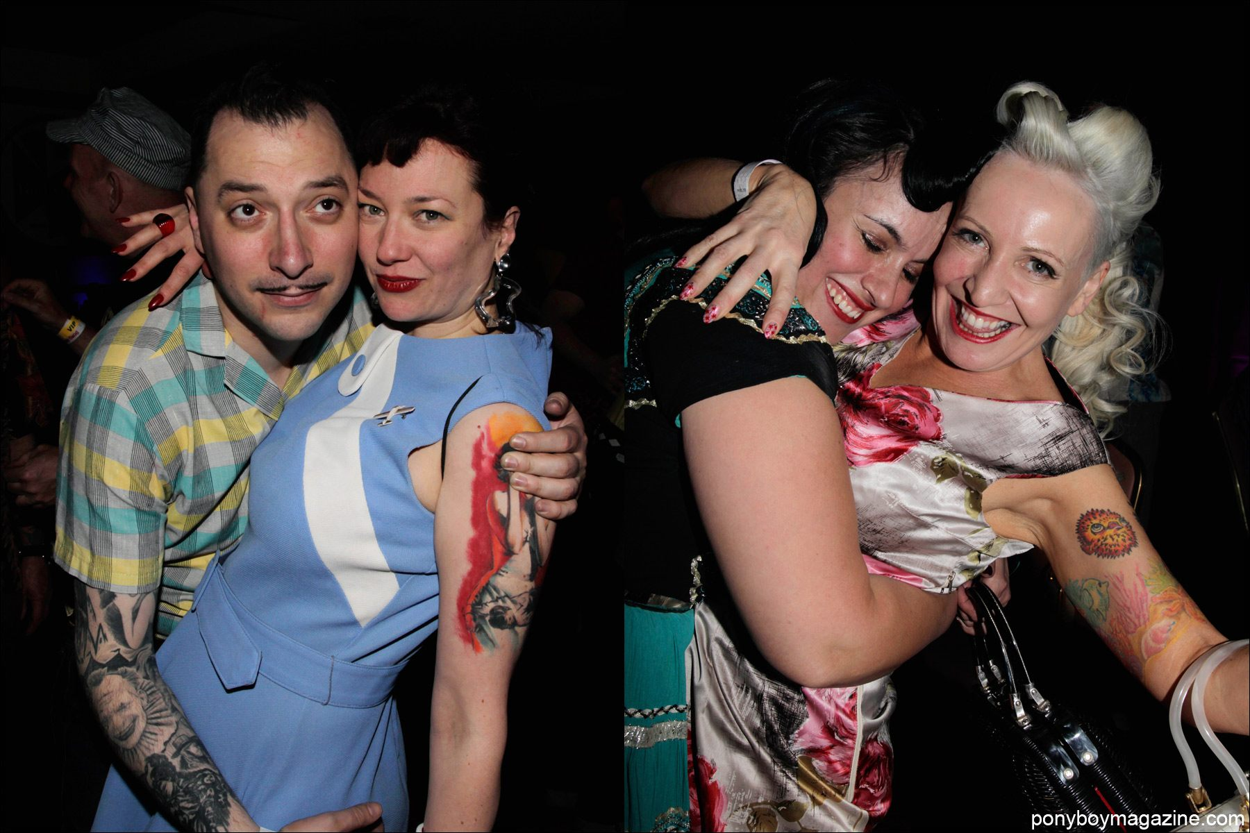 Rockabilly partygoers at Viva Las Vegas 17. Photograph by Alexander Thompson for Ponyboy Magazine.