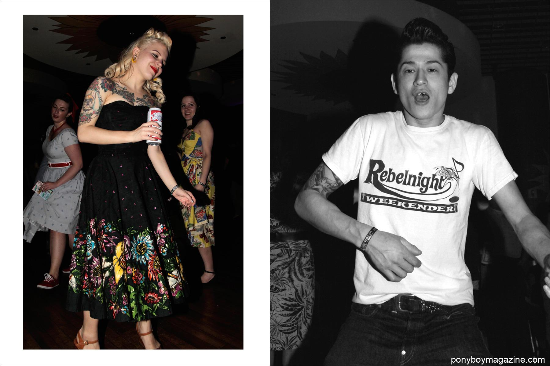Rockabilly lovers on the dance floor at Tom Ingram's Viva Las Vegas 17 weekender. Photographs by Alexander Thompson for Ponyboy Magazine.