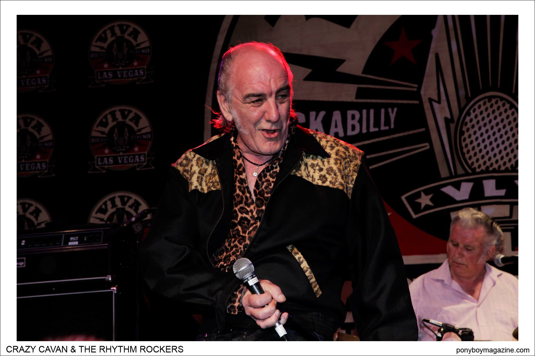 The legendary Crazy Cavan and The Rhythm Rockers at Tom Ingram's Viva Las Vegas 17 rockabilly weekender. Photograph taken by Alexander Thompson for Ponyboy Magazine.
