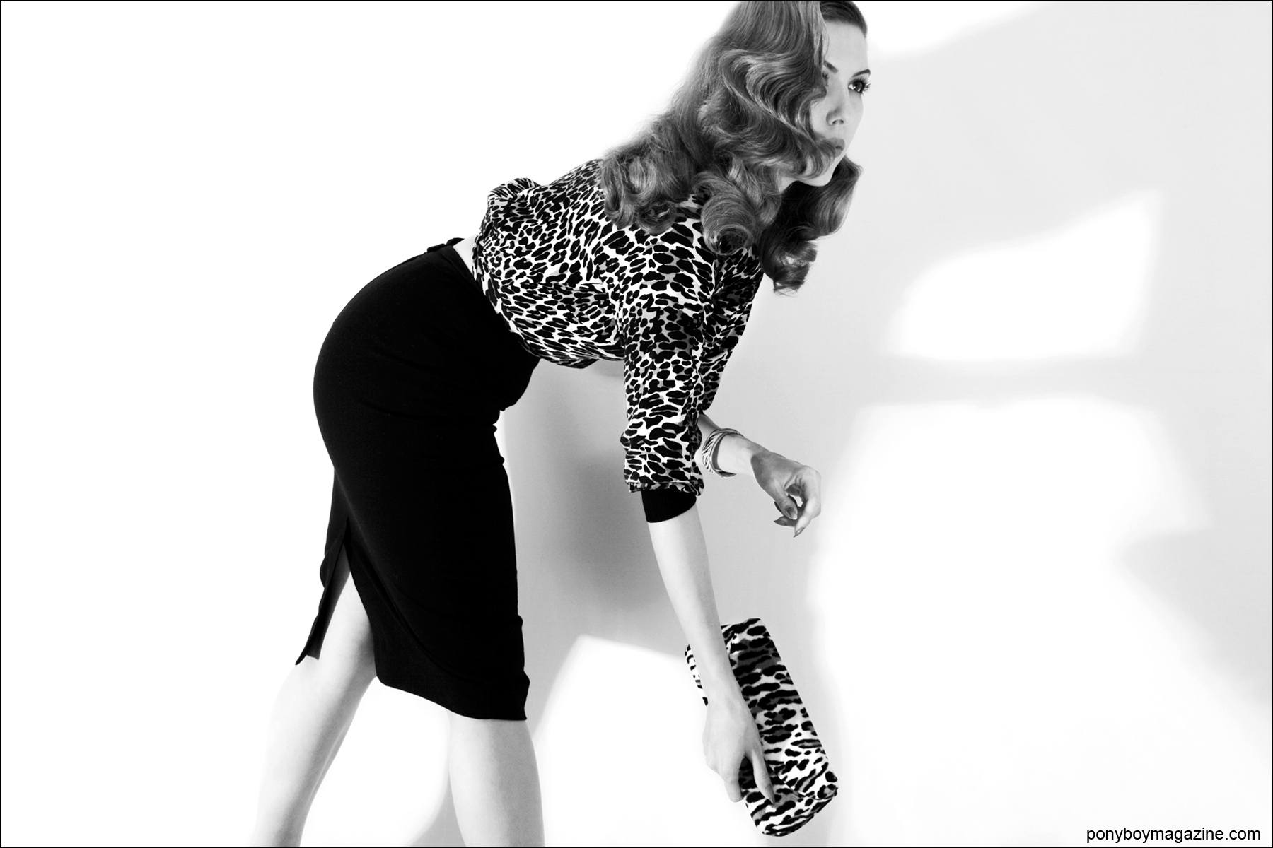 Lola Devlin wears 1950's leopard for Ponyboy Magazine, photographed by Alexander Thompson.