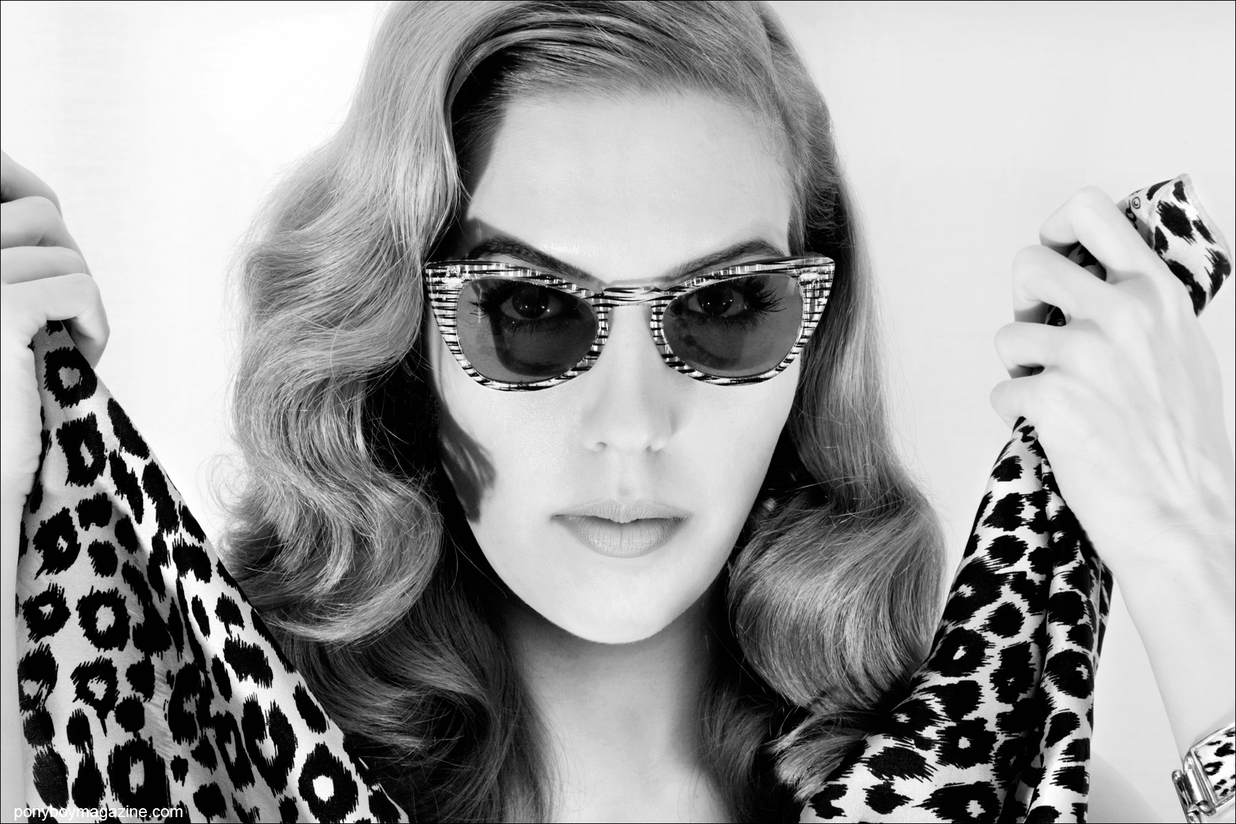 Miss Lola Devlin wears vintage leopard for Ponyboy Magazine, photographed by Alexander Thompson.