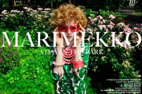 MARIMEKKO, A day in the park, the latest women's editorial for Ponyboy Magazine. Photographed by Alexander Thompson, with styling by Xina Giatas.